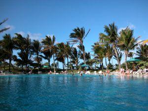 Hotel-Pool auf der Insel Mauritius