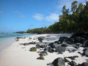 Traumhafter Sandstrand auf Mauritius